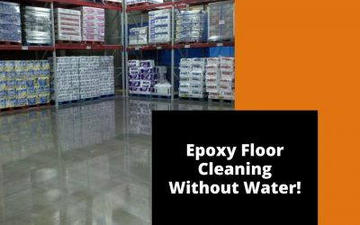 Epoxy Floor Cleaning Without Water!